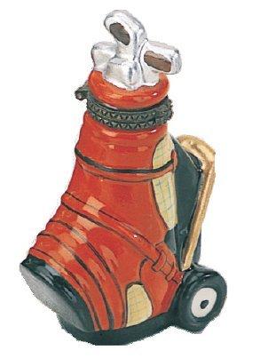 (Navika PGA Golf Bag Limoge Porcelain Box, Red, 2-3