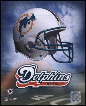 Miami Dolphins Helmet Logo Art Poster Print Unknown