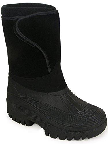 UK esquí negro Negro nbsp;11 equitación cálido impermeable invierno senderismo de Nuevo Wellington lluvia nieve nbsp;– todos de Unisex botas botas 4 estable patio los Wellys Farm agua tamaños Mucker PwWfqSqd