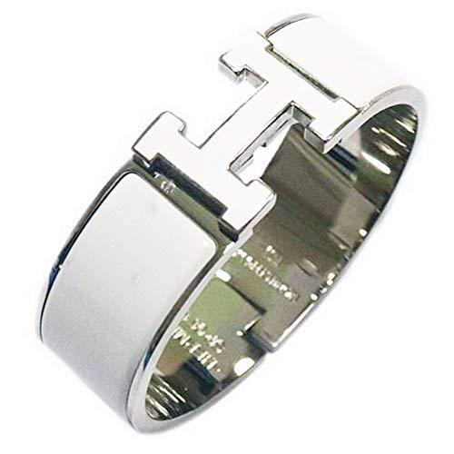 Silver Enamel Bracelet - Glenda Dunn Stainless Steel Wide 20MM Fashion Buckle Bangle Enamel Bracelet Perimeter 7.3