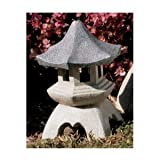 Pagoda Lantern statue home asian oriental sculpture Med (the digital angel) For Sale