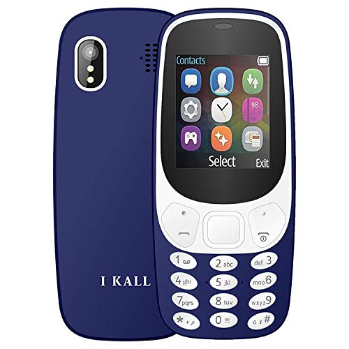 I KALL K3310 Gold Series Keyboard Mobile (1.8 Inch, Dual Sim, Vibration, King Voice, 1000 mAh Battery) (Dark Blue)