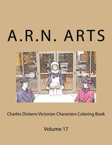 Charles Dickens Victorian Christmas Characters Coloring Book