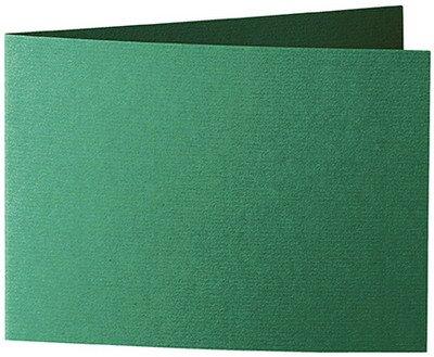 296 x 105mm 50 St/ück //// Artoz Serie 1001 Doppelkarten gerippt //// Querdoppelt //// DIN A6 racing green hochwertig