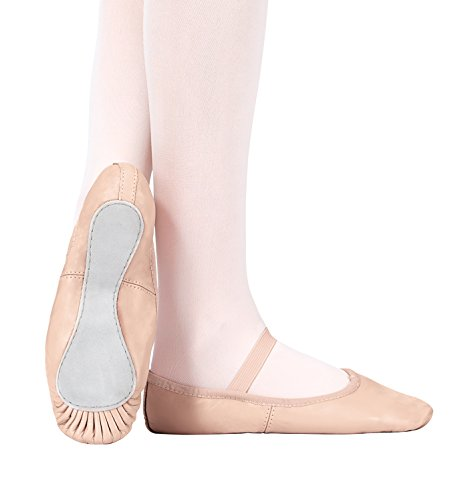 Child Premium Leather Full Sole Ballet Shoes,T2000CPNK11.0M,Pink,11.0M