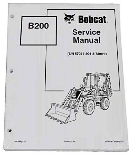 amazon com bobcat b200 loader backhoe repair workshop service rh amazon com Hydraulic Breaker Bobcat 709 Backhoe Parts