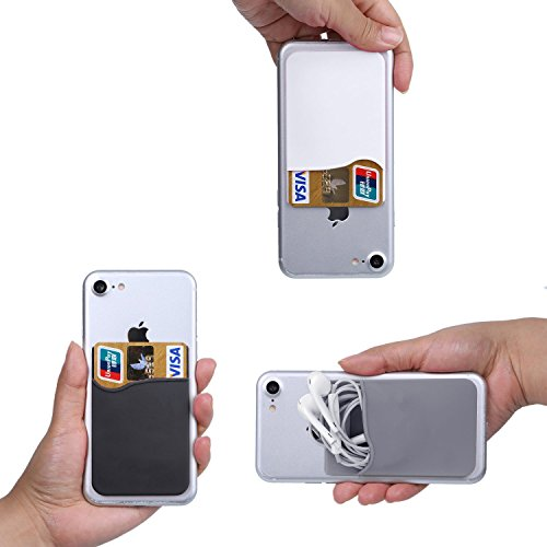 Cell-Phone-Wallet-Works-with-Almost-Every-Phone-iPhone-Android-and-Most-Smartphones-BlackGreyWhite-3-Piece
