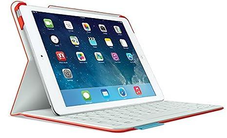 Logitech FabricSkin Keyboard Folio Bluetooth Rojo teclado para móvil - Teclados para móviles (Rojo,