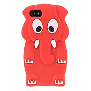 ZLXUSA (TM) 3D Elephant Protective Case for iphone 4s Red