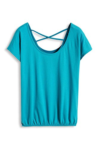 edc by Esprit 046CC1K050 - Camiseta Mujer Verde (TEAL GREEN 370)