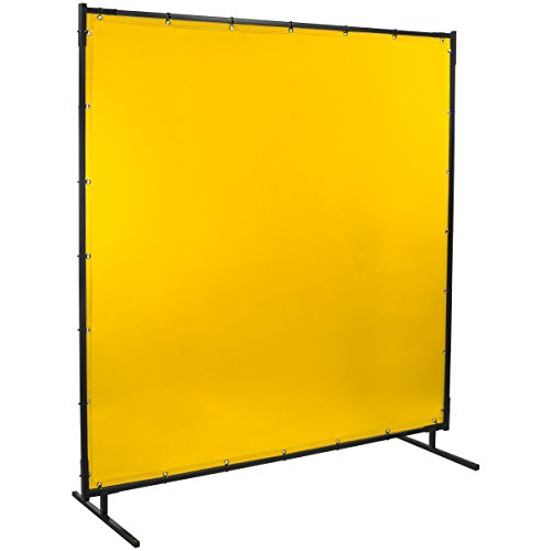 Steiner 534-6X8 Protect-O-Screen Classic Welding Screen with Flame Retardant 14 Mil Tinted Transparent Vinyl Curtain, Yellow, 6' x 8'