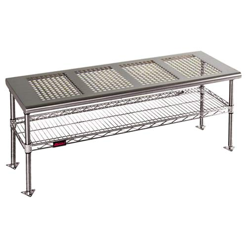 - Eagle Group CRB1848 Gowning Bench with Standard Undershelf, Solid Top, Stainless Steel Finish, 48