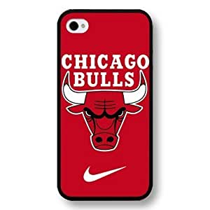 Personalized Black Hard Plastic For Iphone 4/4S Case Cover , NBA Superstar Chicago Bulls Michael Jordan For Iphone 4/4S Case Cover , Only Fit For Iphone 4/4S Case Cover