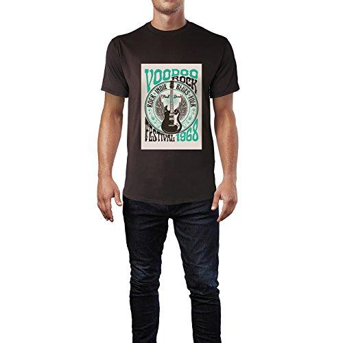 SINUS ART® Vintage Poster aus den 60ern und 70ern Herren T-Shirts in Schokolade braun Fun Shirt mit tollen Aufdruck