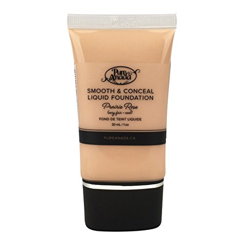 Pure Anada Natural Liquid Foundation - Prairie Rose - Smooth and Conceal - 1 Ounce