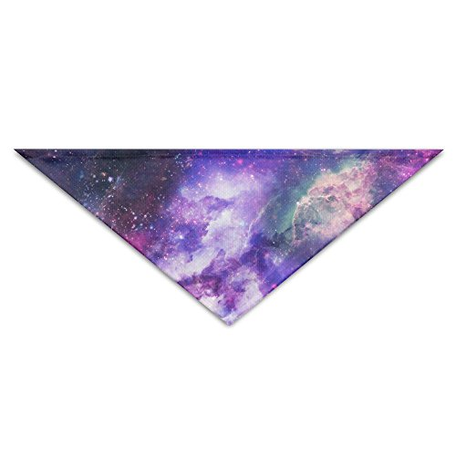 OLGCZM Cluster Of Galaxies Pet Dog Cat Puppy Bandana Triangle Head Scarfs Accessories (Bow Cluster)