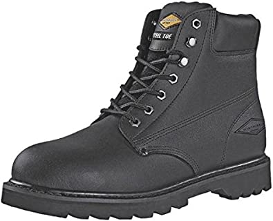 black leather steel toe shoes