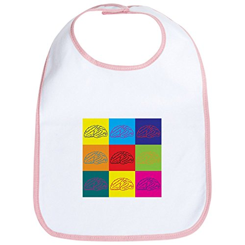 CafePress - Neurology Pop Art Bib - Cute Cloth Baby Bib, Toddler Bib