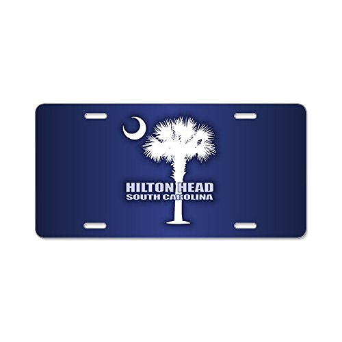 CafePress - Hilton Head - Aluminum License Plate, Front License Plate, Vanity Tag