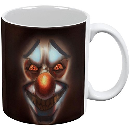 Halloween Insane Clown White All Over Coffee Mug ()
