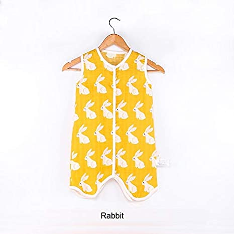 Amazon.com: Baby Sleeping Bag Muslin Cotton Sleeveless Sleep Sack Summer Soft Cute Cartoon Jumpsuit for Children Pajamas Newborn Sleepsacks: Sports & ...