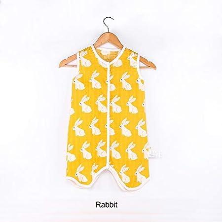 Amazon.com: Baby Sleeping Bag Muslin Cotton Sleeveless Sleep Sack Summer Soft Cute Cartoon Jumpsuit for Children Pajamas Newborn Sleepsacks: Sports & ...