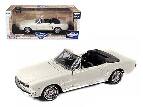 New 1:18 W/B MOTORMAX AMERICAN CLASSICS - CREAM 1964 1/2 FORD MUSTANG CONVERTIBLE Diecast Model Car By MOTOR MAX (Mustang Convertible Model)