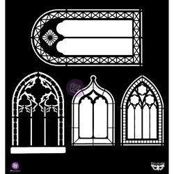 Bulk Buy: Prima Marketing (2-Pack) Prima Elementals Stencil 12\'X12\' Windows PSTEN-60483