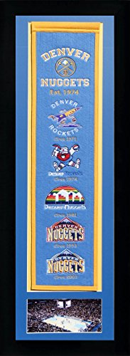 NBA Denver Nuggets Legends Never Die Team Heritage Banner with Photo, Team Colors, 15