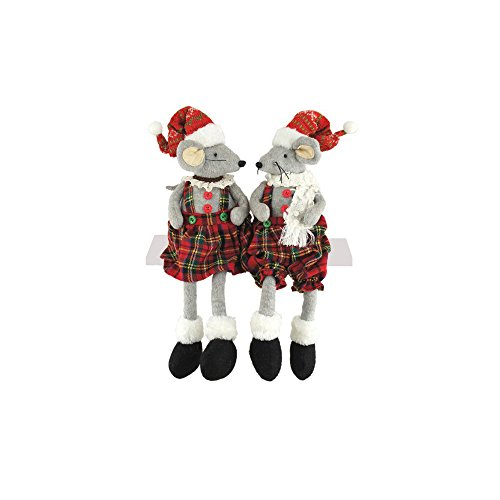Santa's Workshop 2260 Christmas Mice Decor, Set of 2 16
