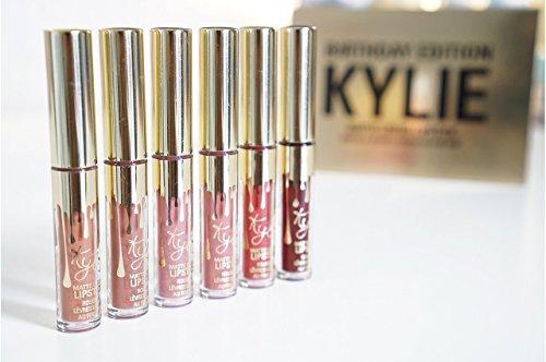 Kylie Jenner Lip Kit Matte Liquid Lipstick Simulation Ltd Birthday Edition Mini 6 Pcs Set