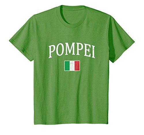 Price comparison product image Kids Pompeii Italy T-shirt Pompei Tourist Travel Italian Souvenir 4 Grass