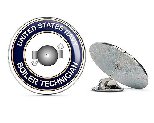 (US Navy Boiler Technician BT Military Veteran USA Pride Served Gift Metal 0.75