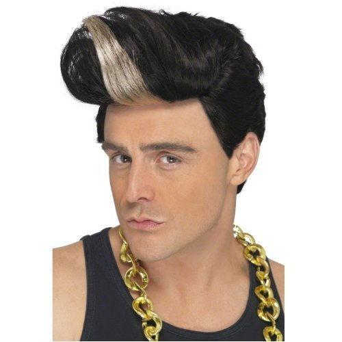 MyPartyShirt Men's Vanilla Ice Rapper Wig One Size Fits All Black]()