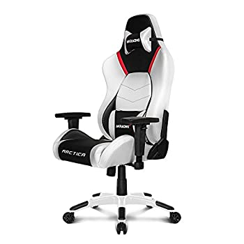 Image of AKRacing Masters Series Premium Gaming Chair with High Backrest, Recliner, Swivel, Tilt, 4D Armrests, Rocker and Seat Height Adjustment Mechanisms with 5/10 Warranty - Arctica Video Game Chairs