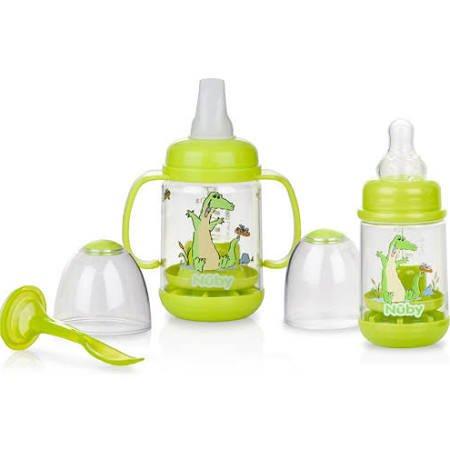 Nuby Infa-Feeder Set, Gator, BPA-Free