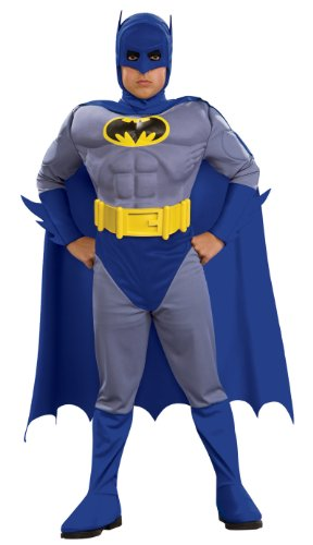 Rubie's 883418S Batman Deluxe Muscle Chest Batman Child's Costume, Small, Blue  (Discontinued by (Superhero Kids Costumes)