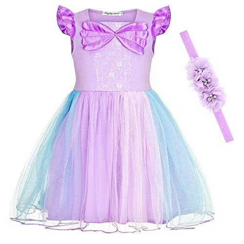 Little Mermaid Dress Toddler (Princess Dresses Little Mermaid Costumes Ariel Dress for Toddler Girls 4T)