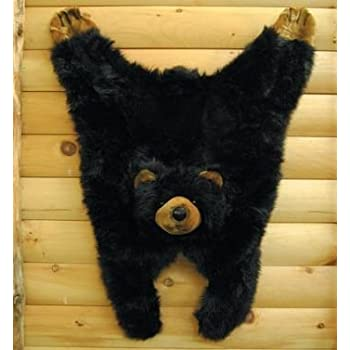 Amazon Com Soft And Cuddly Cute Black Bear Floor Throw
