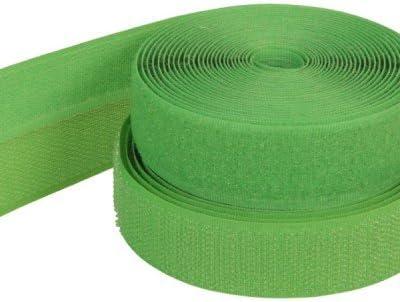 Flausch und Haken 4m Klettband 25mm breit Farben: gruen zum Aufnaehen
