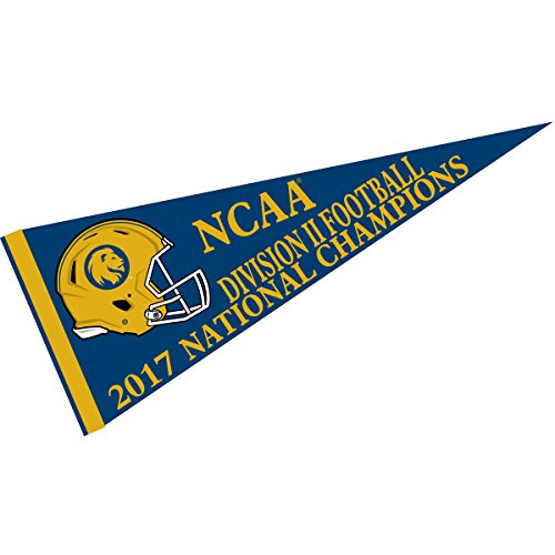 (College Flags and Banners Co. Texas A&M Commerce Lions 2017 Division II Football National Champions Pennant)