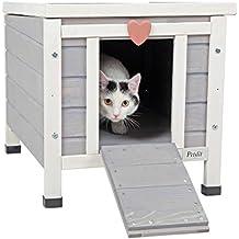 """Petsfit Outdoor/Indoor Cat House,Ideal Cat Condo,Weatherproof Cat Shelter 16"""" Wx17 Hx20 D"""