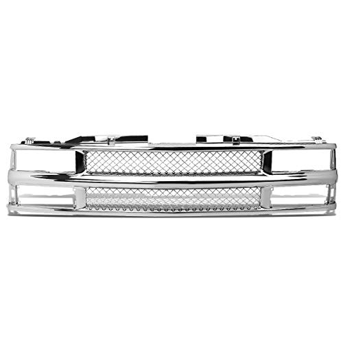 DNA Motoring Chrome GRLDM-C1088-CH ABS Plastic Front Bumper Grille [for 94-00 Chevy C/K Suburban]