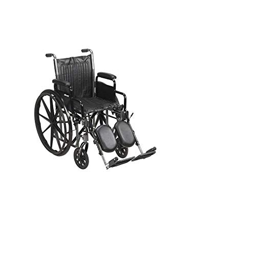 McKesson Standard Wheelchair with Swing Away Footrests - Swing-Away Footrests, 20 Inch Seat, 350 lbs. Capacity - 62164201 ()
