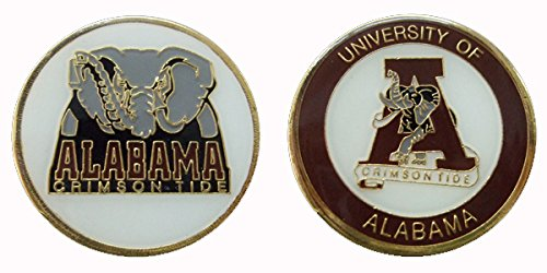 University of Alabama - Crimson Tide Collectible NCAA Challenge Coin Logo Poker/Lucky Chips & Gift Alabama Game Day Chip