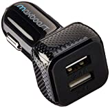 #3: Car Charger, Maxboost 4.8A/24W 2 USB Smart Port Charger [Black] For iPhone X 8 7 6S 6 Plus, 5 SE 5S 5 5C, Galaxy S9 S8 S7 S6 Edge, Note 8 4, LG G6 G5 V10 V20, HTC,Nexus 5X 6P,Pixel,iPad Pro Portable