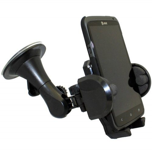 Xenda Car Mount Universal Cell Phone Holder Winshield Suction Cup Dock for iPhone 5, 5S, 4S, 4, 3GS, 3G - iPod Touch - Blackberry Z10 - Samsung Galaxy S4 S 4 - Samsung Galaxy S3 S 3 III - Samsung Galaxy Note, Note 2 II - HTC One, One VX