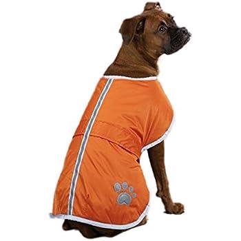 "Zack & Zoey Nor'easter Blanket Coat for Dogs, 24"" X-Large, Orange"
