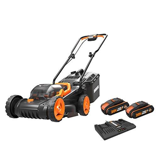 WORX WG779E.2 36V (40V MAX) Cordless 34cm Lawn Mower (Dual battery x2 20V...