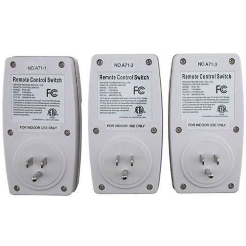 Generic Outlet Wireless Remote Wall Outlets, 3 Outlets with 1 Remote - bedroomdesign.us